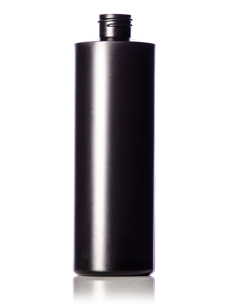 B206bk 16 Oz Black Hdpe Cylinder Round Bottle With 28