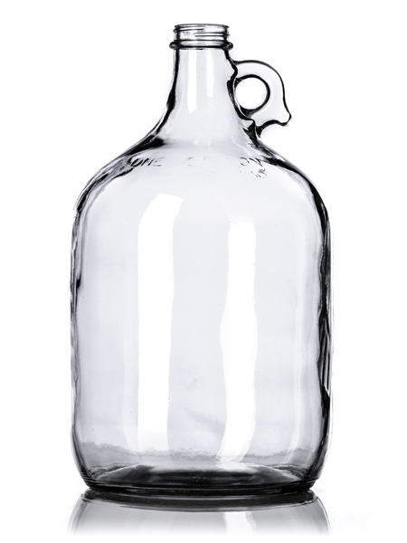 g002 1 gallon clear glass jug with finger handle with 38. Black Bedroom Furniture Sets. Home Design Ideas