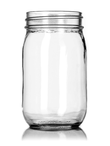 16 oz clear glass jar with 70 450g neck finish - 16 Oz Glass
