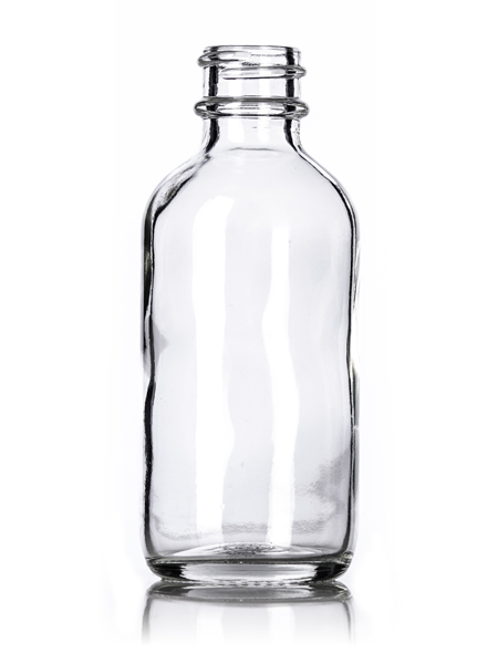 9756c88e96ae 2 oz clear glass boston round bottle with 20-400 neck finish